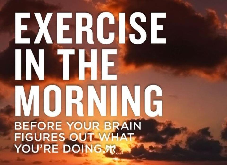 And I LOVE my morning workouts!
